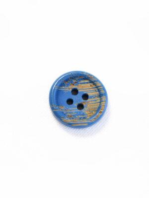 Пуговица пластик голубая с бежевыми вкраплениями (р1214) - Фото 11