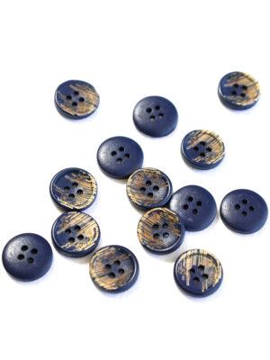 Пуговица пластик темно-синяя с бежевыми вкраплениями (р1215) - Фото 18
