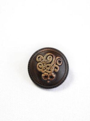 Пуговица коричневая с вензелем (р1218) - Фото 17