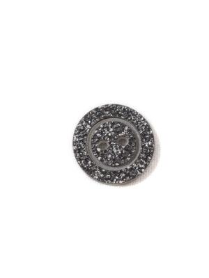 Пуговица пластик темно-серая с блестками на прокол (р1221) - Фото 15