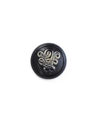 Пуговица маленькая черная с вензелем (р1223) - Фото 13