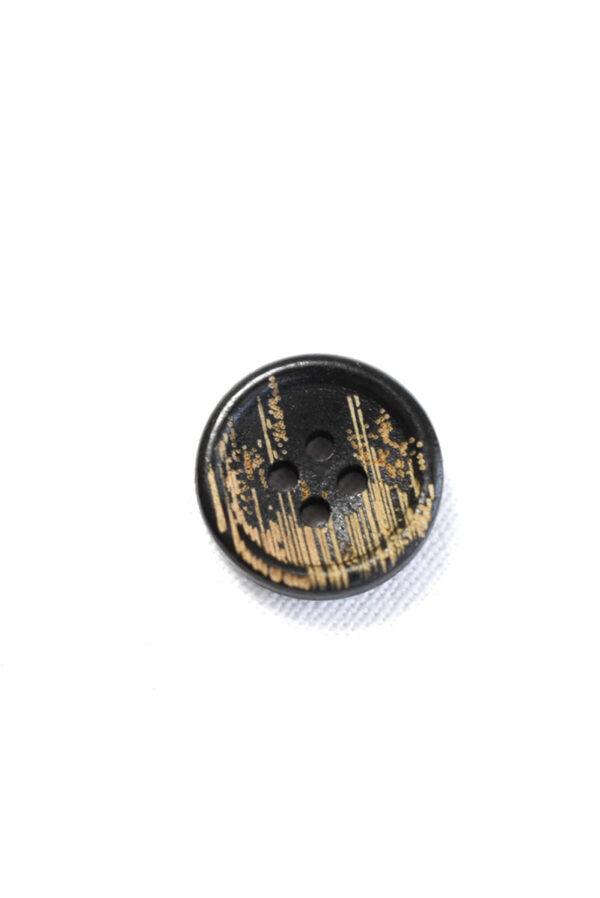 Пуговица пластик черная с бежевыми вкраплениями (р1226) - Фото 6
