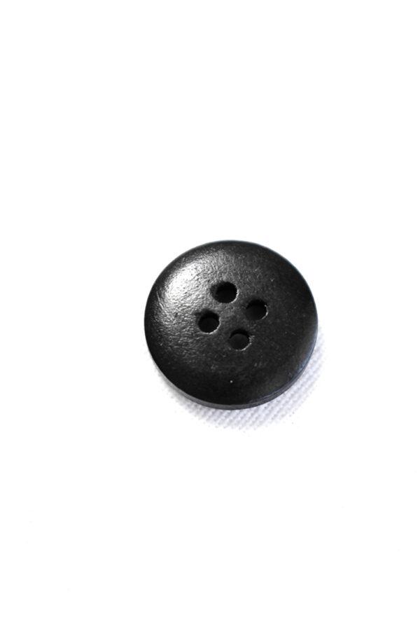 Пуговица пластик черная с бежевыми вкраплениями (р1226) - Фото 7