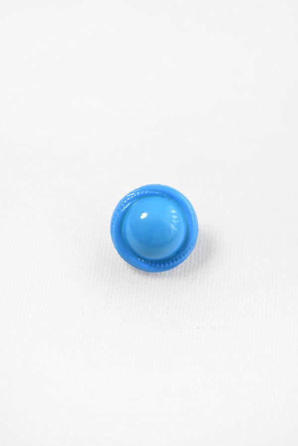 Пуговица пластик круглая голубая на ножке (р1233) - Фото 6