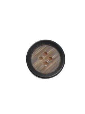 Пуговица маленькая пластик коричневая с черным ободком (р1234) - Фото 14