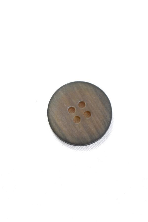 Пуговица маленькая пластик коричневая с черным ободком (р1234) - Фото 7