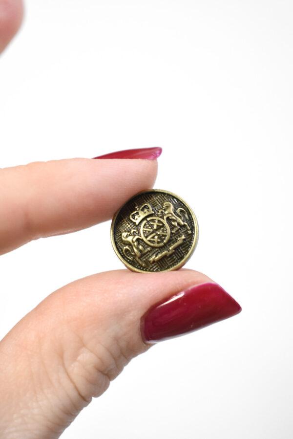 Пуговица металл на бронха с гербом (р1238) - Фото 10