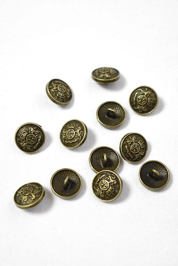 Пуговица металл на бронха с гербом (р1238) - Фото 9