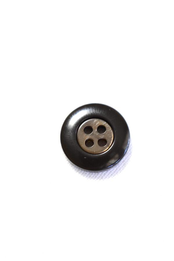 Пуговица пластик черная в мелкий ромбик с окантовкой (р1241) - Фото 8