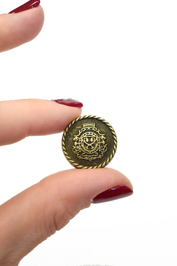 Пуговица металл бронза с гербом (р1242) - Фото 9