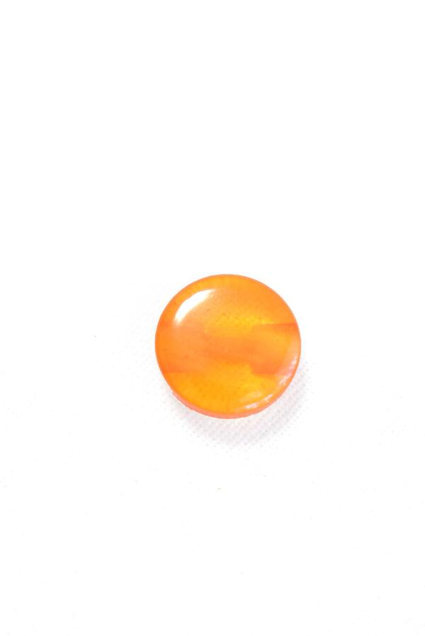 Пуговица пластик оранжевая полупрозрачная (р1253) - Фото 6