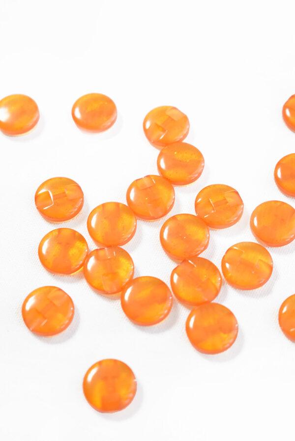 Пуговица пластик оранжевая полупрозрачная (р1253) - Фото 8