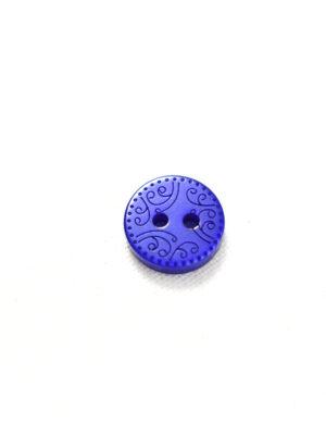 Пуговица пластик синяя с орнаментом (р1266) - Фото 13
