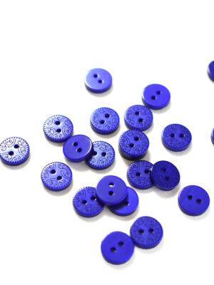 Пуговица пластик синяя с орнаментом (р1266) - Фото 14