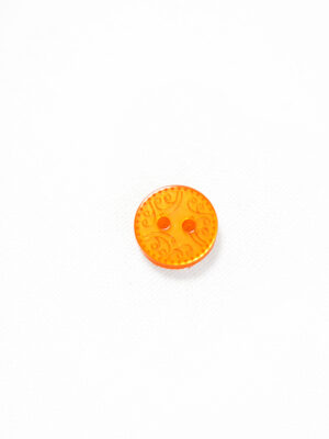 Пуговица пластик оранжевая с орнаментом (р1267) - Фото 10