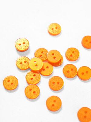 Пуговица пластик оранжевая с орнаментом (р1267) - Фото 11