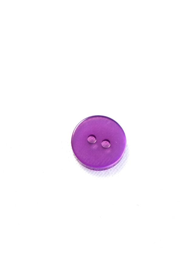 Пуговица пластик лиловая полупрозрачная (р1271) - Фото 8