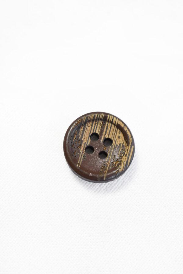 Пуговица пластик коричневая с бежевыми вкраплениями (р1275) - Фото 6