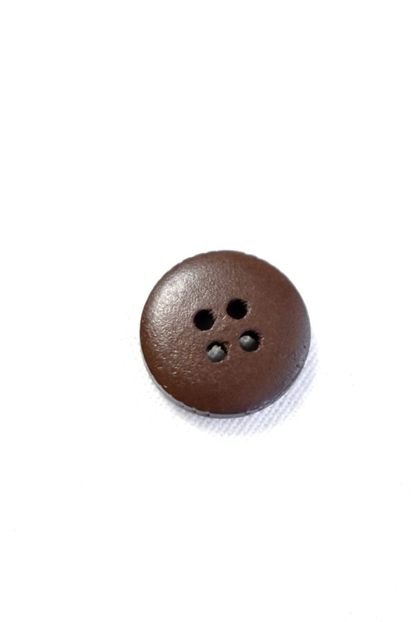 Пуговица пластик коричневая с бежевыми вкраплениями (р1275) - Фото 7