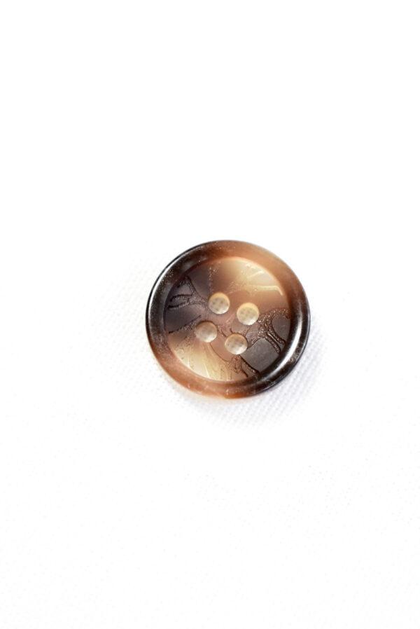 Пуговица пластик коричневая с градиентом на прокол (р1280) - Фото 6