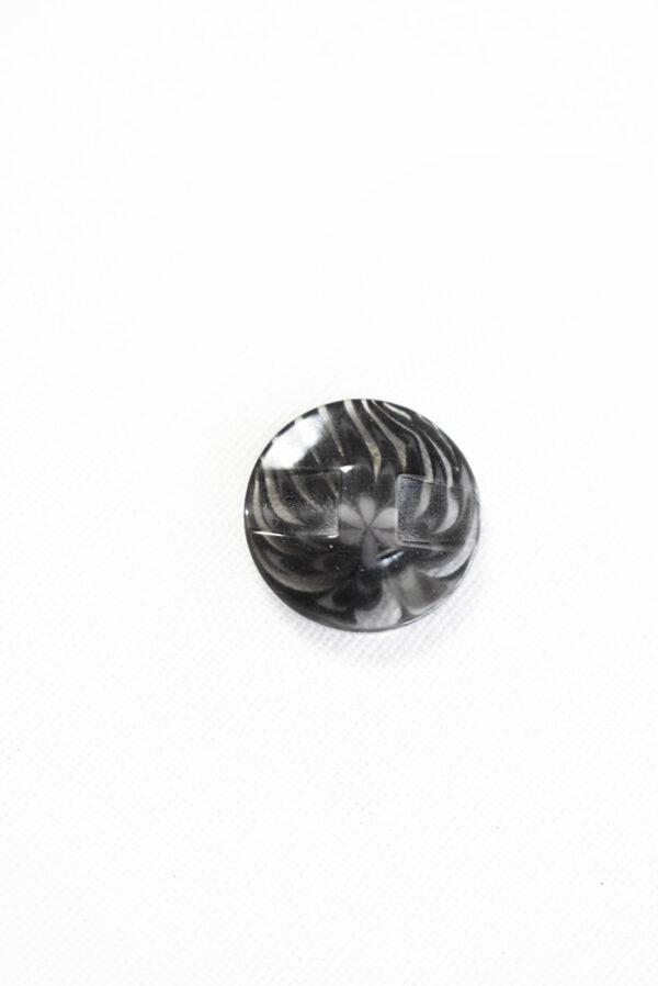 Пуговица пластик темно-серая полупрозрачная с мелким цветочком (р1281) - Фото 8