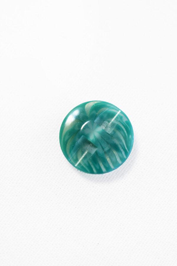 Пуговица пластик бирюзовая полупрозрачная с мелким цветочком (р1283) - Фото 8