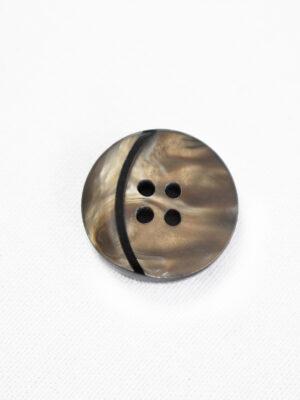 Пуговица коричневая с мраморным узором и вставкой в виде месяца (р1286) - Фото 17
