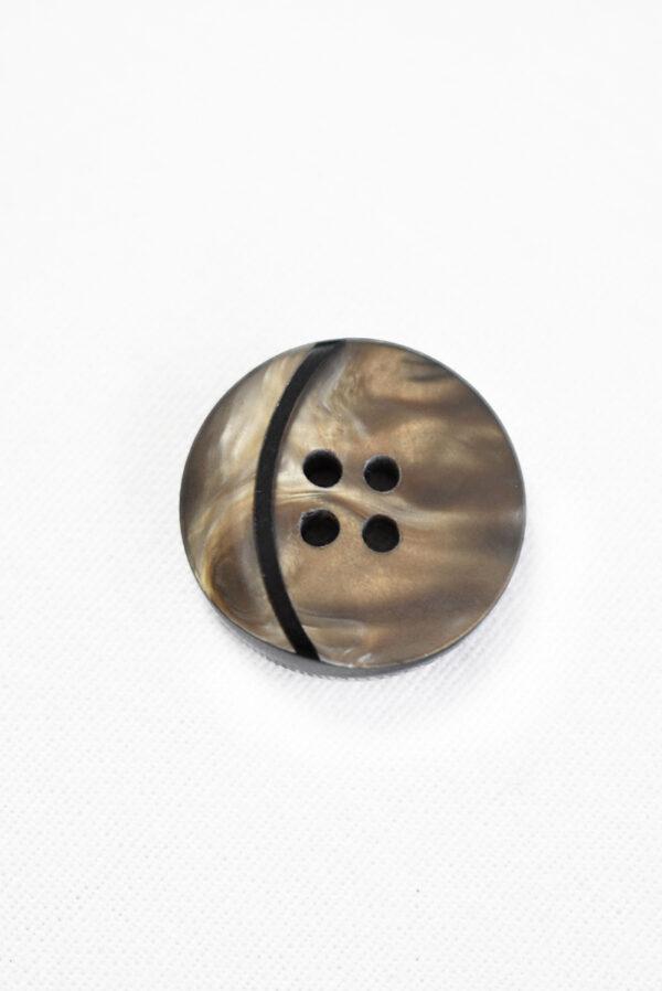 Пуговица коричневая с мраморным узором и вставкой в виде месяца (р1286) - Фото 6