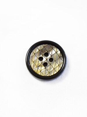 Пуговица пластик на прокол бежевая в мелкий ромбик с коричневой окантовкой (р1288) - Фото 12