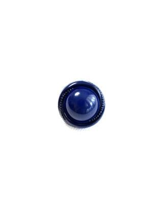 Пуговица пластик круглая темно-синяя на ножке (р1291) - Фото 11