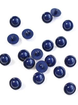 Пуговица пластик круглая темно-синяя на ножке (р1291) - Фото 12