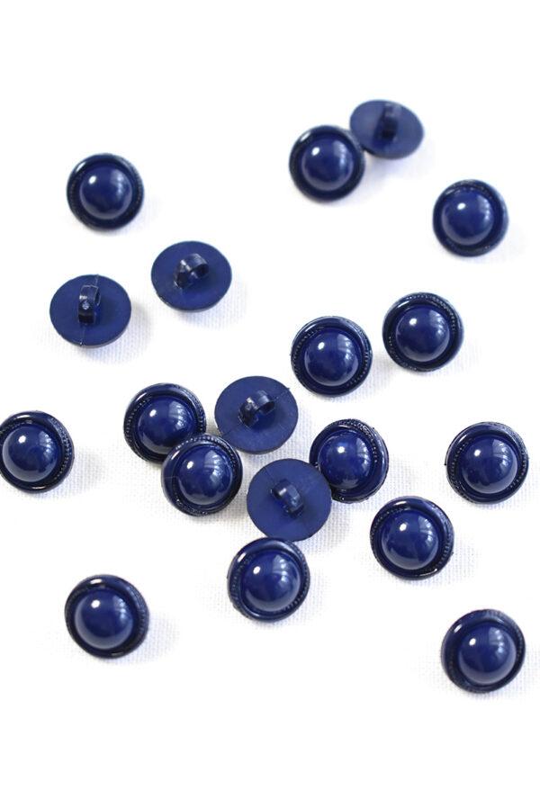 Пуговица пластик круглая темно-синяя на ножке (р1291) - Фото 7