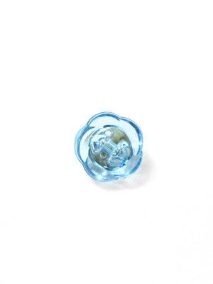 Пуговица голубая в виде цветочка с кристалликом (р1293) - Фото 11