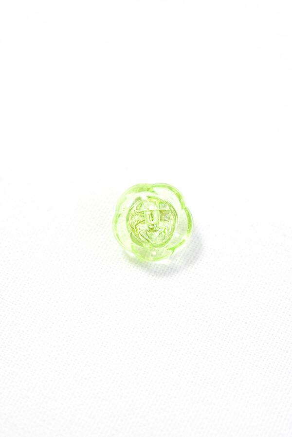 Пуговица салатовая в виде цветочка с кристалликом (р1294) - Фото 7