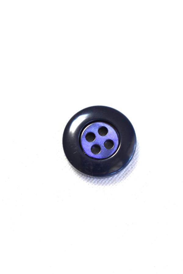 Пуговица пластик синяя в мелкий ромбик с окантовкой (р1297) - Фото 8