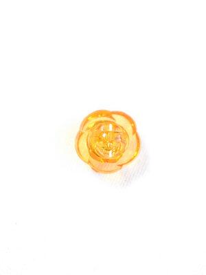 Пуговица оранжевая в виде цветочка с кристалликом (р1311) - Фото 18
