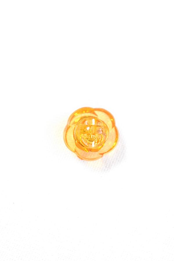 Пуговица оранжевая в виде цветочка с кристалликом (р1311) - Фото 7
