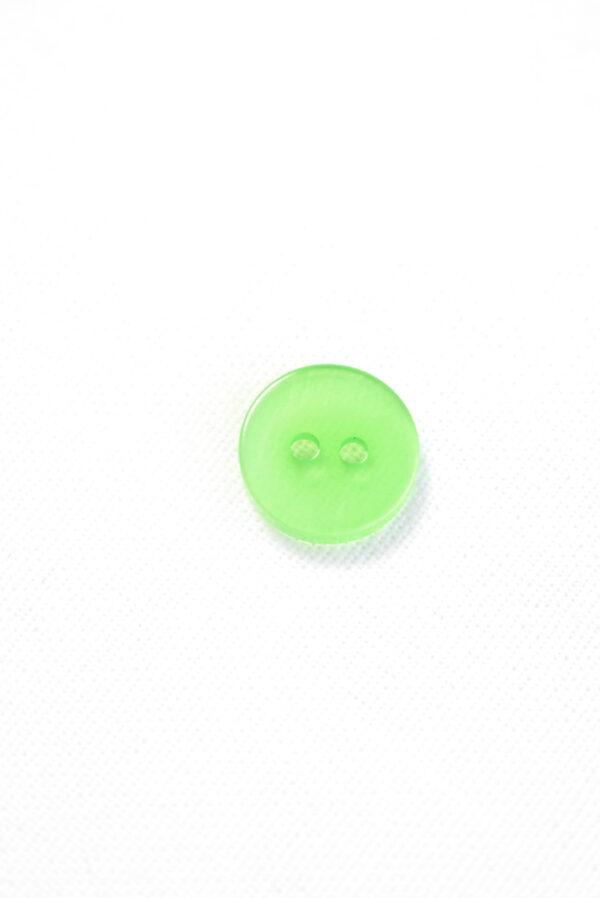 Пуговица пластик зеленая полупрозрачная (р1324) - Фото 8