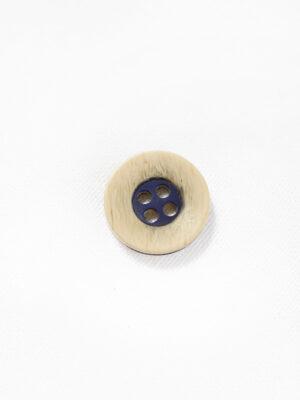 Пуговица пластик бежевая с синей серединкой (р1333) - Фото 12