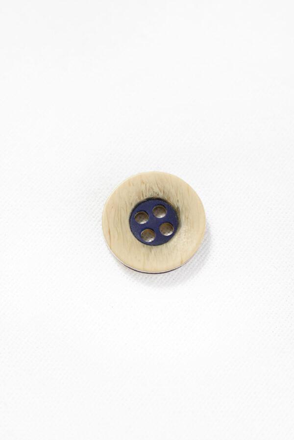 Пуговица пластик бежевая с синей серединкой (р1333) - Фото 6