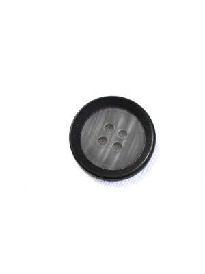 Пуговица маленькая пластик серая с черным ободком (р1337) - Фото 10