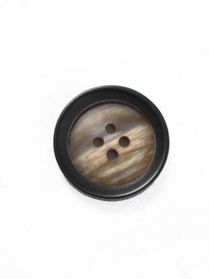 Пуговица пластик коричневая с черным ободком (р1338) - Фото 14