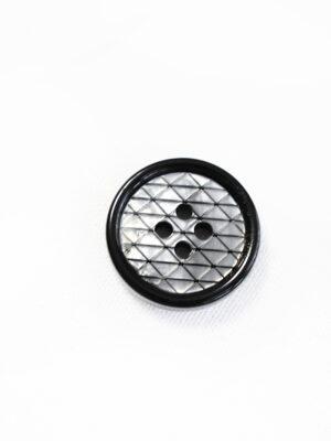 Пуговица пластик серая в мелкий ромбик с черной окантовкой (р1341) - Фото 12