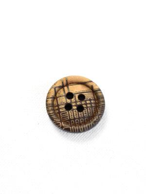 Пуговица пластик коричневая в бежевую клетку (р1344) - Фото 22