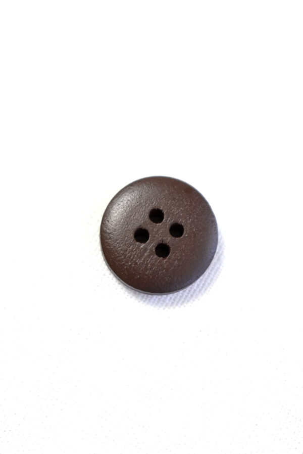 Пуговица пластик коричневая в бежевую клетку (р1344) - Фото 8