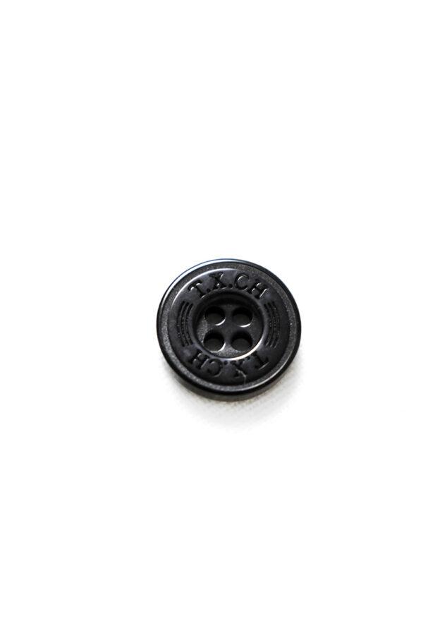 Пуговица пластик черная с надписью (р1345) - Фото 6