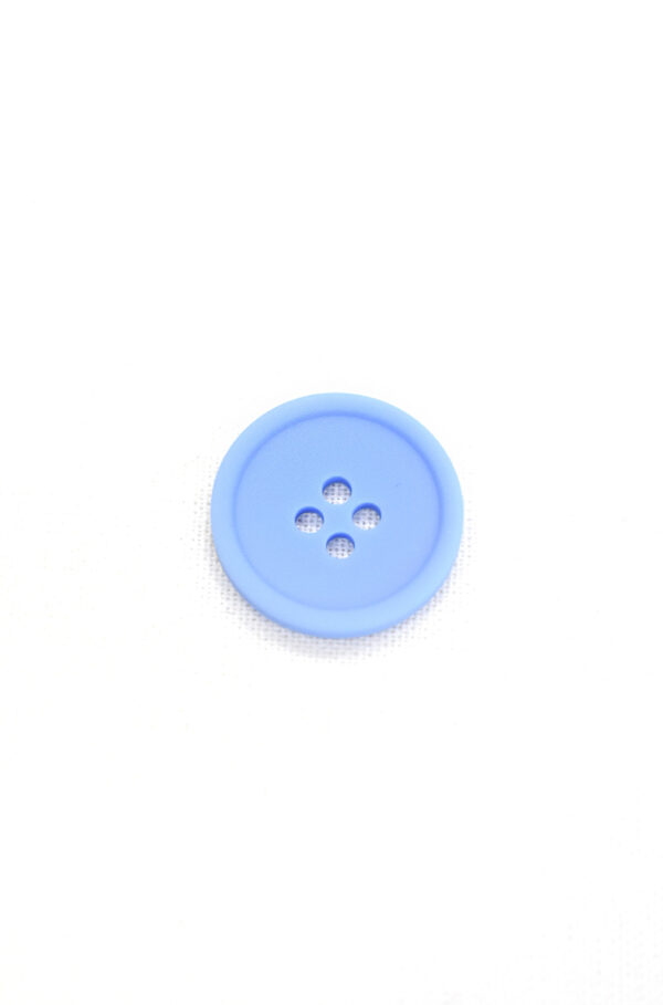 Пуговица пластик голубая на прокол матовая (р1349) - Фото 6