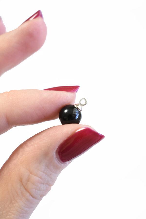 Пуговица черный жемчуг на металлической ножке (р1360) - Фото 8