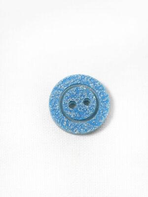 Пуговица пластик голубая с блестками на прокол (р1363) - Фото 17