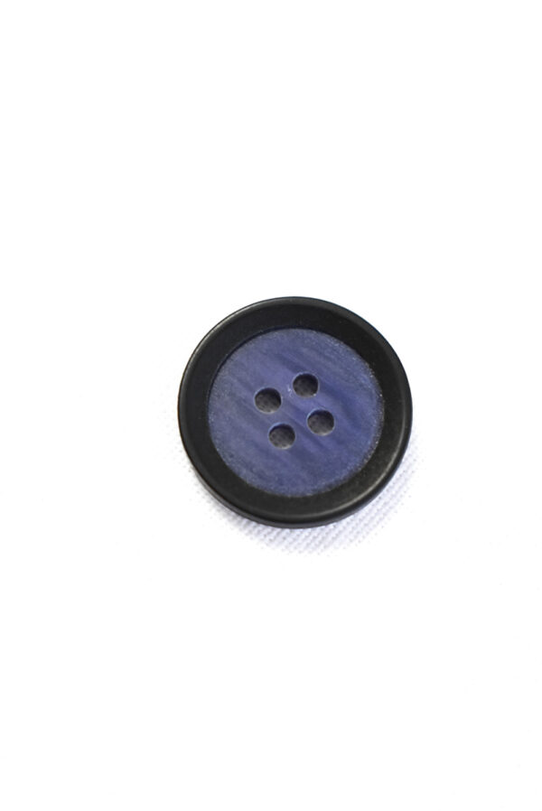 Пуговица маленькая пластик синяя с черным ободком (р1365) - Фото 6